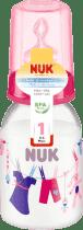NUK Butelka kolorowa PP 110 ml, silikon, rozmiar 1, M – różowa