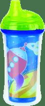NUBY Termoizolačné fľaša s náustkom 270ml, 9m +, zelená