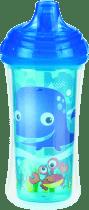 NUBY Termoizolačné fľaša s náustkom 270ml, 9m +, modrá
