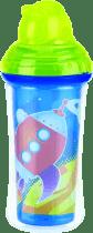 NUBY Termoizolační láhev s brčkem 270ml, 12m+, zelená