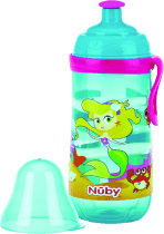 NUBY Butelka sportowa Pop-Up 360ml, 18m+,  kolor turkusowy