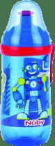 NUBY Športová fľaša Pop-Up 360ml, 18m +, modrá