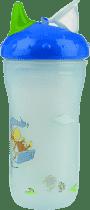 NUBY Termoizolační kelímek 270ml No-Spill™, 6m+, modrá