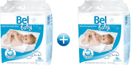 BEL BABY podložky pro přebalování kojenců, 60cm x 60cm 2x(10ks)