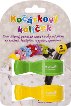 T-TOMI Klips do wózka, 2 szt. – zielony + żółty