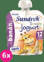 6x SUNÁREK Do ručičky s banánmi a jogurtom 80g