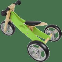 NICKO Drewniany jeździk 2w1 mini rowerek trzykołowy – zielony
