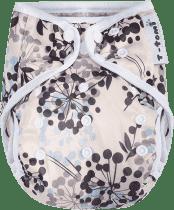 T-TOMI Svrchní kalhotky, šedé kytky