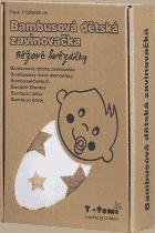 T-TOMI Bambusová zavinovačka, 1 kus, béžové hvězdičky