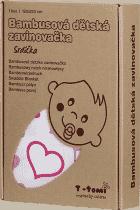 T-TOMI Bambusová zavinovačka, 1 kus, srdíčka