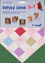 T-TOMI Dětský šátek, čtverce