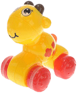 MIKRO TRADING Zwierzątko naciśnij i jedź – żółte