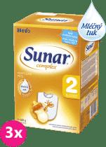 3x SUNAR Complex 2 (600g) – kojenecké mléko