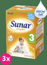 3x SUNAR Complex 3 BANÁN (600g) – kojenecké mléko