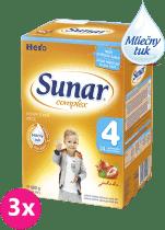 3x SUNAR Complex 4 JAHODA (600g) - dojčenské mlieko