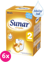 6x SUNAR Complex 2 (600g) – kojenecké mléko