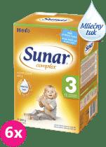 6x SUNAR Complex 3 (600g) - dojčenské mlieko
