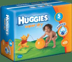 HUGGIES® Super Dry 5 (JUNIOR), 23ks - jednorázové plienky