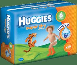 HUGGIES® Super Dry 6 (EXTRALARGE), 19 szt. - jednorazowe pieluszki