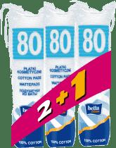 BELLA Odličovací tampóny kulaté (3x80 ks)