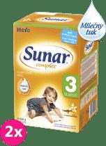 2x SUNAR Complex 3 VANILKA (600g) - dojčenské mlieko