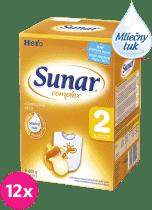 12x SUNAR Complex 2 (600g) - dojčenské mlieko
