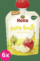 6x HOLLE Bio ovocné pyré jablko a banán, 90g