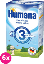 6x HUMANA 3 (600 g) - dojčenské mlieko