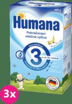 3x HUMANA 3 banán a vanilka (600 g) - dojčenské mlieko