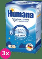 3x HUMANA na dobrú noc s prebiotikami (600 g) - dojčenské mlieko