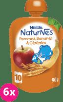 6x NESTLÉ Naturnes Banán/Jablko/Oves 90g - ovocná kapsička