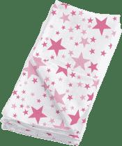 BAMBINO MIO Látkové mušelínové plenky 4ks - Pink Stars