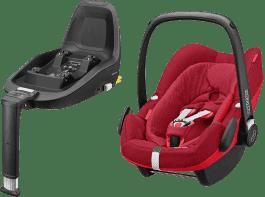 MAXI-COSI Pebble Plus fotelik samochodowy Robin Red + Podkładka do fotelika 2WayFix