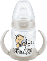 NUK FC Butelka treningowa Snoopy - PP 150ml, silikonowy smoczek – biały