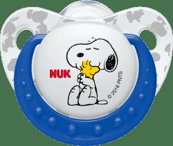 NUK Smoczek Trendline Snoopy, silikon , rozmiar 2 (6-18m.) - niebieski