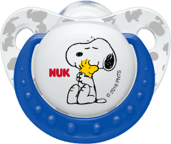 NUK Dudlík Trendline Snoopy, silikon , velikost 2 (6-18m.) - modrý