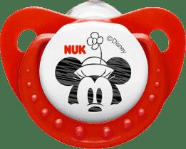 NUK Smoczek Trendline DISNEY-Mickey, silikon, rozmiar 2 (6-18 mies.) - czerwony