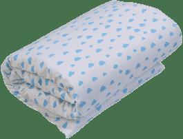 GLOOP Dziecięca kołderka do łóżeczka z wypełnieniem 100x150 Blue Clouds