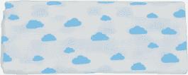 GLOOP mušelínové plienka 100x100 Blue Clouds