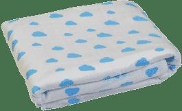 GLOOP Dětská deka z organické bavlny Blue Clouds