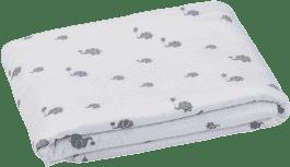 GLOOP Detská deka z organickej bavlny Elephants