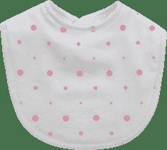 GLOOP Śliniak z organicznej bawełny Pink Dots (2 szt.)
