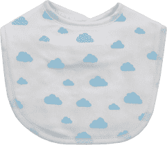 GLOOP Bryndák z organické bavlny Blue Clouds (2ks)