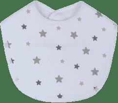 GLOOP Podbradník z organickej bavlny Stars (2ks)