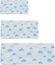 GLOOP Pieluszka muślinowa 3 rozmiary Blue Clouds
