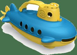 GREEN TOYS Łódź podwodna żółta rączka