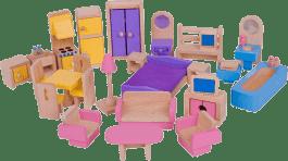 BIGJIGS Drewniane meble do domku dla lalek
