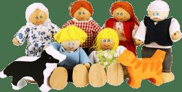 BIGJIGS Bábiky - Set rodinky do domčeka 7ks