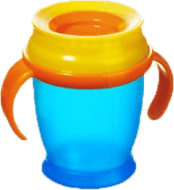 LOVI Hrníček 360˚ MINI 210ml s úchyty – modrá