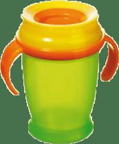 LOVI Hrníček 360˚ JUNIOR 250ml s úchyty - zelená